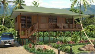 Porcellana Bungalow di legno leggero dell'inquadratura d'acciaio/bungalow su acustici della spiaggia della casa dell'isolamento fornitore