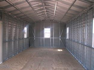 Porcellana La tettoia dell'acciaio del timpano prefabbricata gli Stati Uniti, stoccaggio dell'automobile sparge le costruzioni d'acciaio fornitore