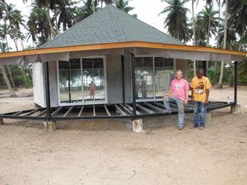 Bungalow prefabbricato di Bali di nuova progettazione, bungalow di Overwater per la spiaggia