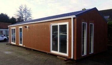 Il tetto piano moderno ha prefabbricato la Camera, case Pre costruite rende incombustibile la casa mobile, Belgio ha esportato le case mobili